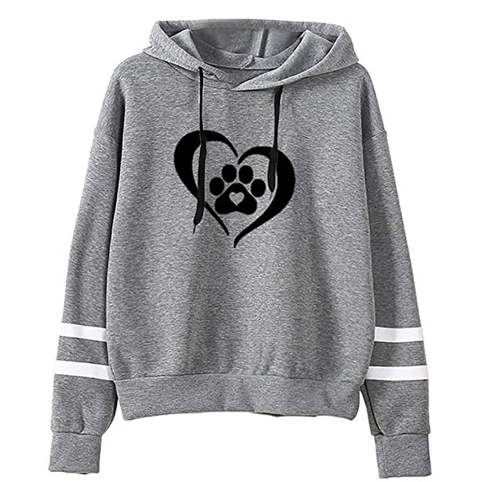Amazon.com: Women Long Sleeve Heart Hoodies Sweatshirt O Neck Solid Pullover Drawstring Tops Fashion Autumn Blouse: Clothing