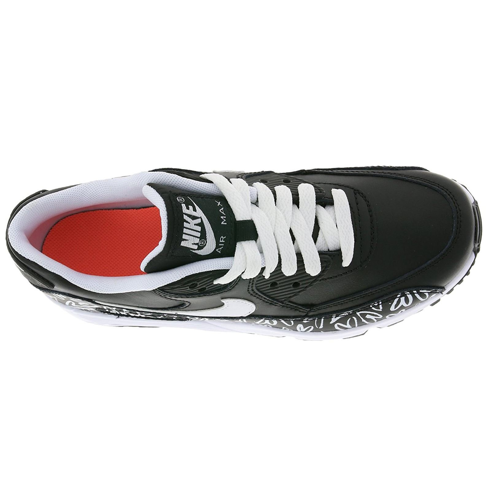 Galleon NIKE Youth Air Max 90 Print Black White Leather