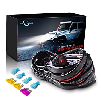 mictuning led light bar wiring harness off road 40 a relay on off rh amazon co uk