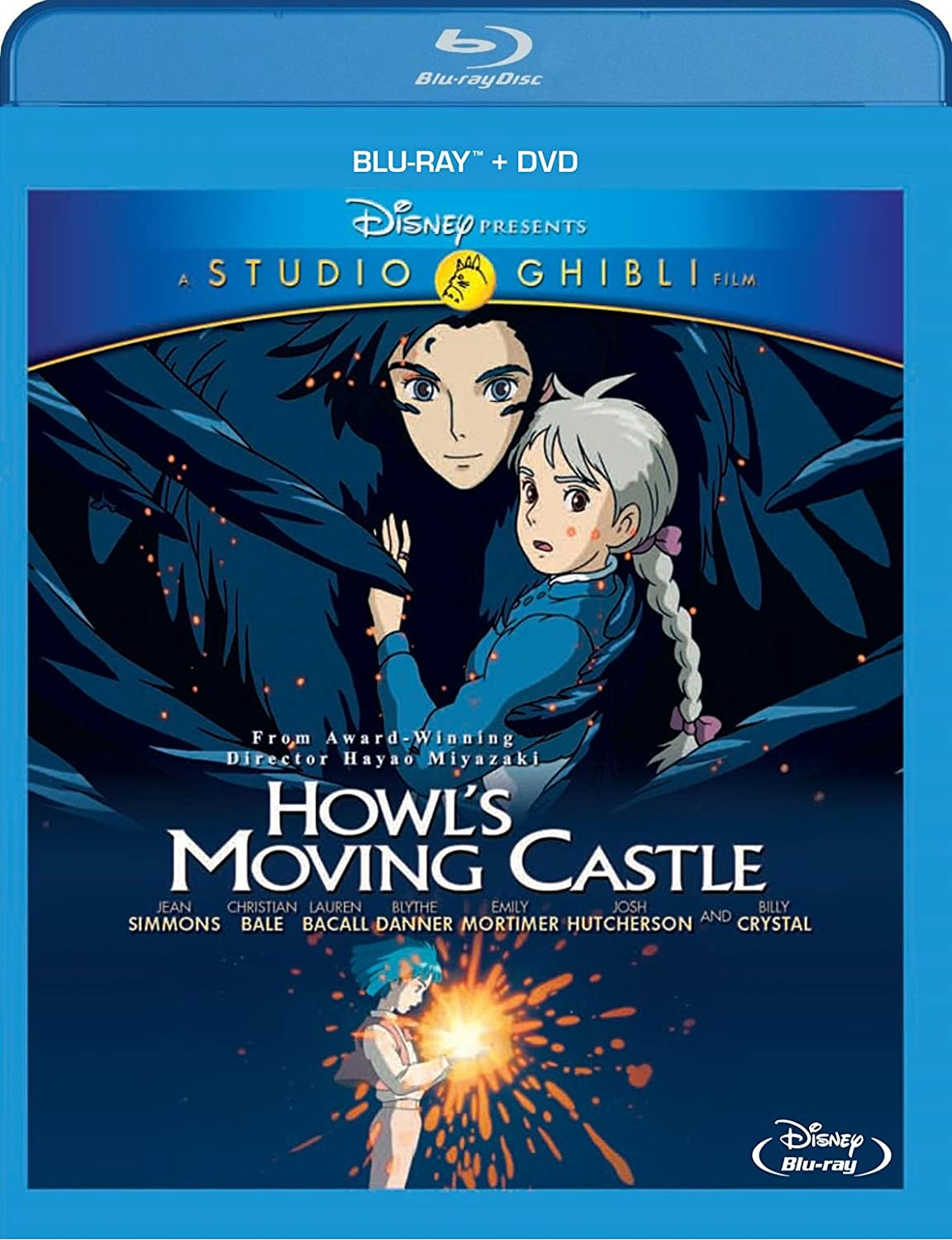 amazon com howl s moving castle two disc blu ray dvd combo jean