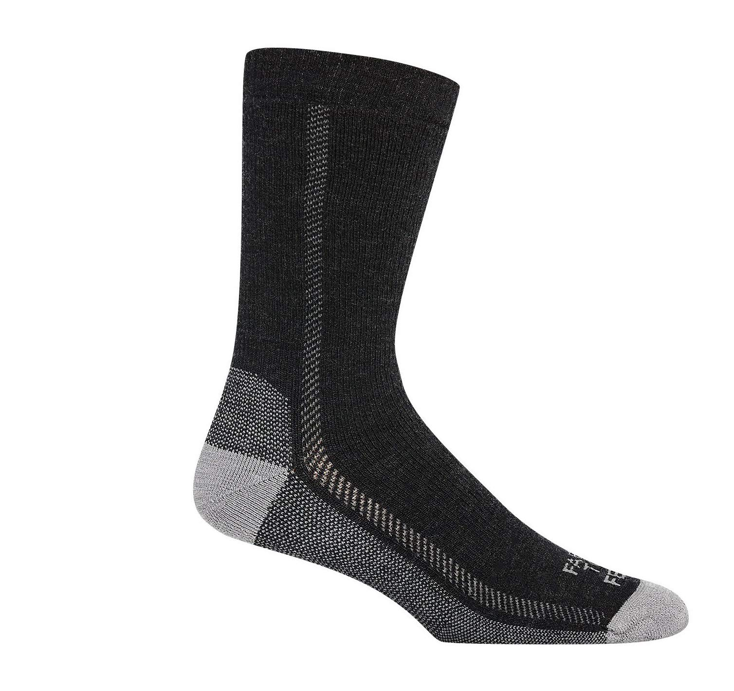 Farm to Feet Madison Lightweight Hiking Crew Socks, Charcoal/Platinum, Large by Farm to Feet