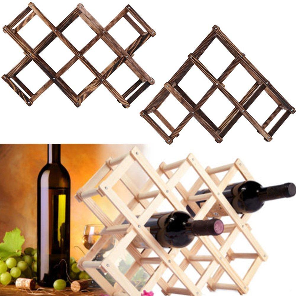 Ireav Creative Solid Red Wine Rack, Folding Wine Rack, Living Room, Red Wine Display Rack, Wine Shelf