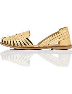 Marca Amazon - find. Weave Leather - Mocasines Mujer: Amazon.es: Zapatos y complementos