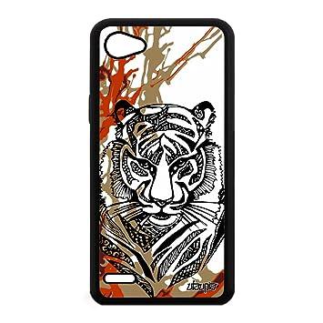 Utaupia Coque Silicone Q6 Tigre Solide Animal Antichoc Homme Dessin