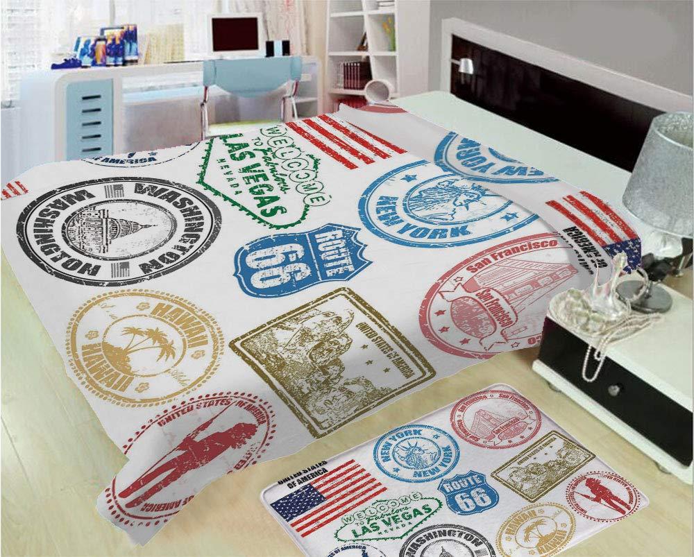 LAS VEGAS DESIGN SOFT FLEECE BLANKET COVER THROW OVER SOFA BED BLANKET AMERICA