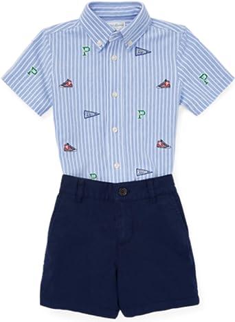 Polo Ralph Lauren Polo Ralph Laurent Conjunto Schiff Set-ST-SHS - Conjunto Camisa Y Bermuda Bebe: Amazon.es: Ropa y accesorios