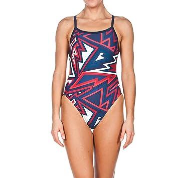 fca594d3ea87f Arena Womens Tulum Challenge Back Onepiece Swimsuit  Amazon.co.uk ...