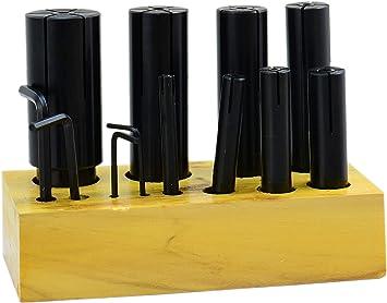 "8 PCS Expanding Arbors Set Mandrels 1//4/"" To 1-1//4/"" Lathe Milling High Precision"