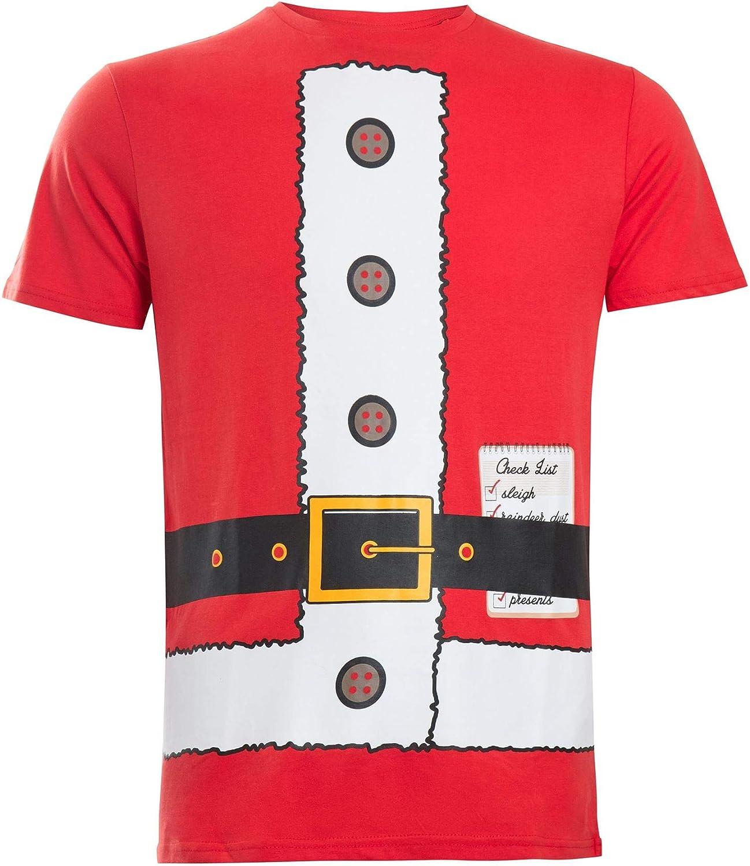 Naguhty CHRISTMAS elf Xmas present Kids gift Boys tee T-Shirt Baby Santa sleigh.