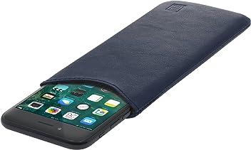StilGut Pouch Custodia Smartphone Sleeve in Morbida Pelle di Nappa Misura M, Blu Scuro Nappa | Compatibile tra Gli Altri con Samsung Galaxy S6, Samsung Galaxy S7, Samsung S6 Edge, HTC 10