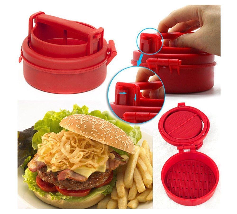 DeemoShop Manual Hamburger Forms Press Burger Patties Maker Press Chef Cutlets Stuffed Hamburger Mold Grill Kitchen Tools Gadgets