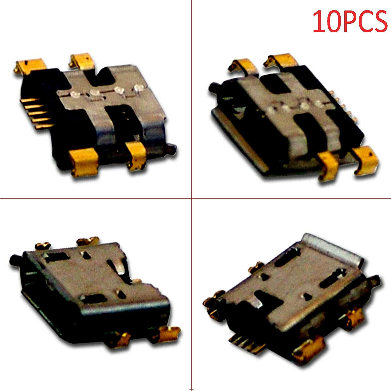 TacPower HQMelectronicsparts Supplies for 10x Micro USB Charging Port for Asus Google Nexus 7 FHD 2nd Gen 2013 ME571K K008