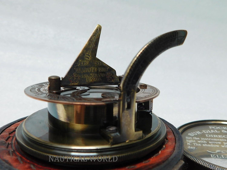 7,6 cm Kompass Messing Box Sonnenuhr Maritime Nautisches Vintage ...