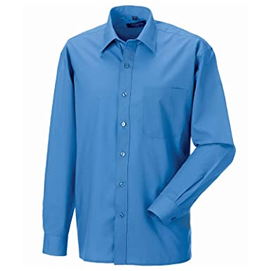 Russell Collection Mens Long Sleeve Classic Twill Shirt