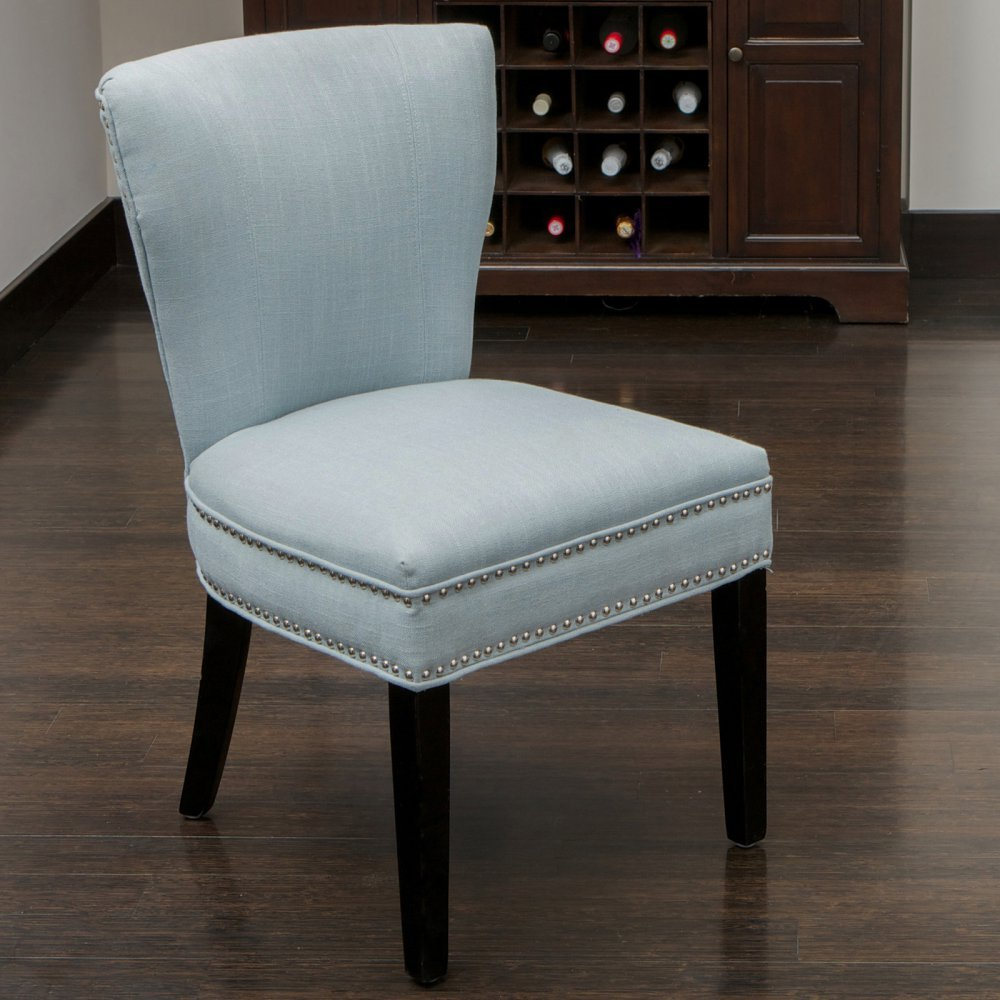 amazoncom best selling jackie fabric accent dining chair ocean blue chairs