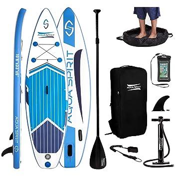 Amazon.com: AQUA SPIRIT Premium inflable Stand Up Paddle ...
