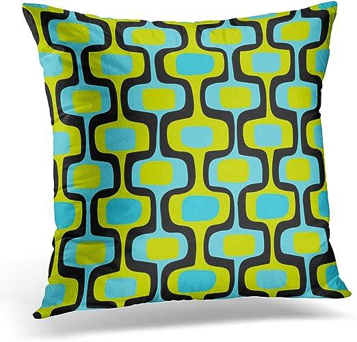 decorative kitchen decor.htm amazon com torass throw pillow cover blue turquoise mid century  throw pillow cover blue turquoise