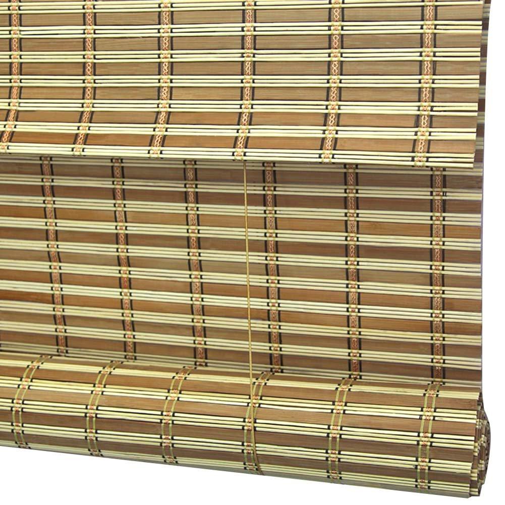 Mei 新作からSALEアイテム等お得な商品満載 Xu 竹のカーテン - 中国の茶室竹ローラーブラインド防犯装飾竹のカーテンの内部 外部インストール 3色 複数のサイズ アウトドアブラインド 100x160CM さいず サイズ 予約 C 色 : B07JPF924W