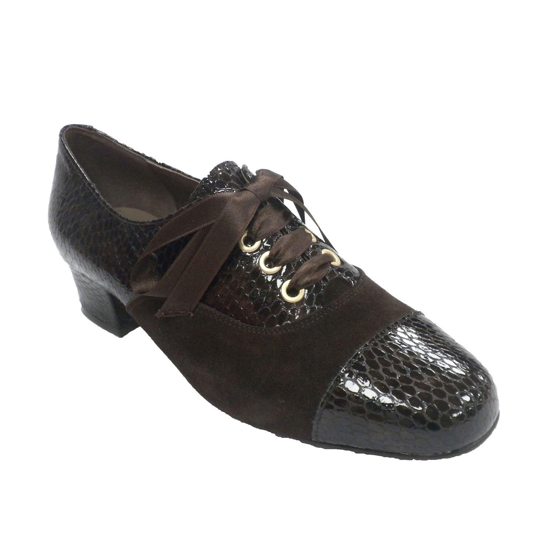 Roldan Zapato Mujer Combinado Ante y Charol Roldán EN Marrón 35 EU