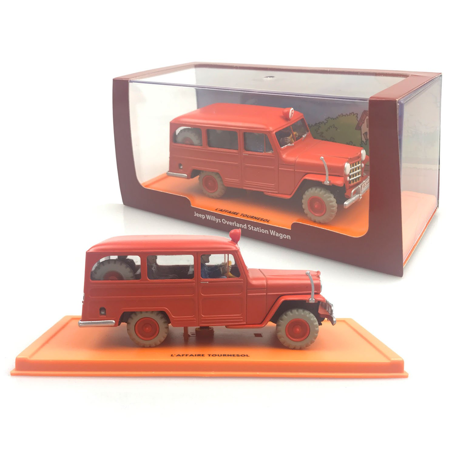 Jeep Willys Overland Station Wagon 143 Metal Diecast Laffaire 1941 Tournesol The Adventures Of Tintin By Atlas Toys Games