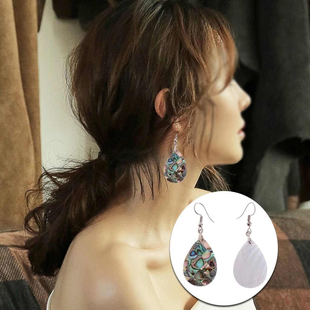 Museourstyty Boucles doreilles pendantes en forme de goutte 31 x 21 mm