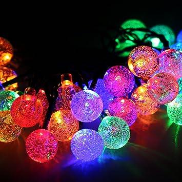 Cadena solar de luces LED para Árbol de Navidad, Patio, Jardín ...
