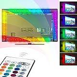 Striscia LED RGB TV, Ubenmart 16 colori Retroilluminazione USB con Telecomando, Riduce l'affaticamento dell'occhio e crea un'esperienza di visione migliore, illuminazione Striscia 2M per HDTV da 30 a 55 pollici, monitor PC