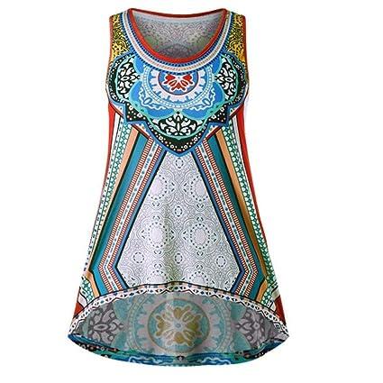 Amazon.com: Boho Tank Tops, FORUU Womens National Wind Printing T-Shirt Vest Cami Blouse Tee: Clothing