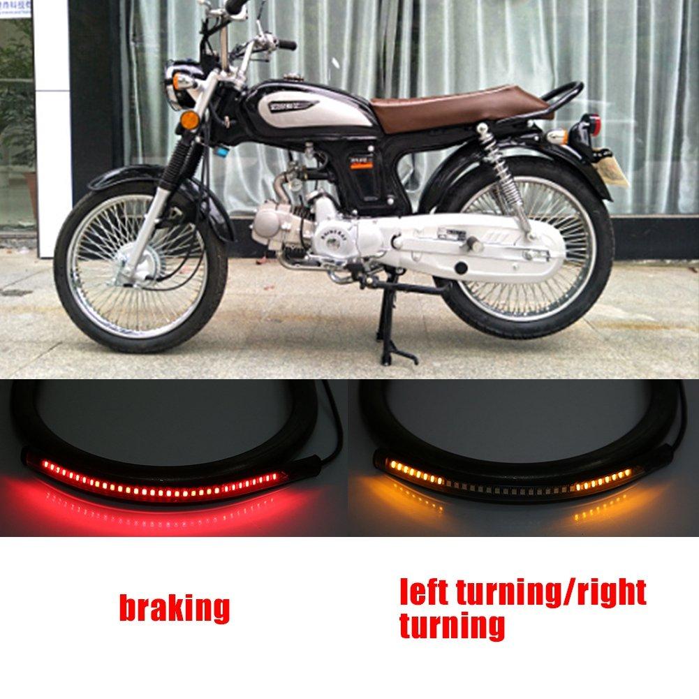 telaio per sedile posteriore con telaio Loop Hoop Staffa di montaggio con accessorio LED luminoso a LED 210mm-curvo KIMISS KI7354 Staffa di coda moto