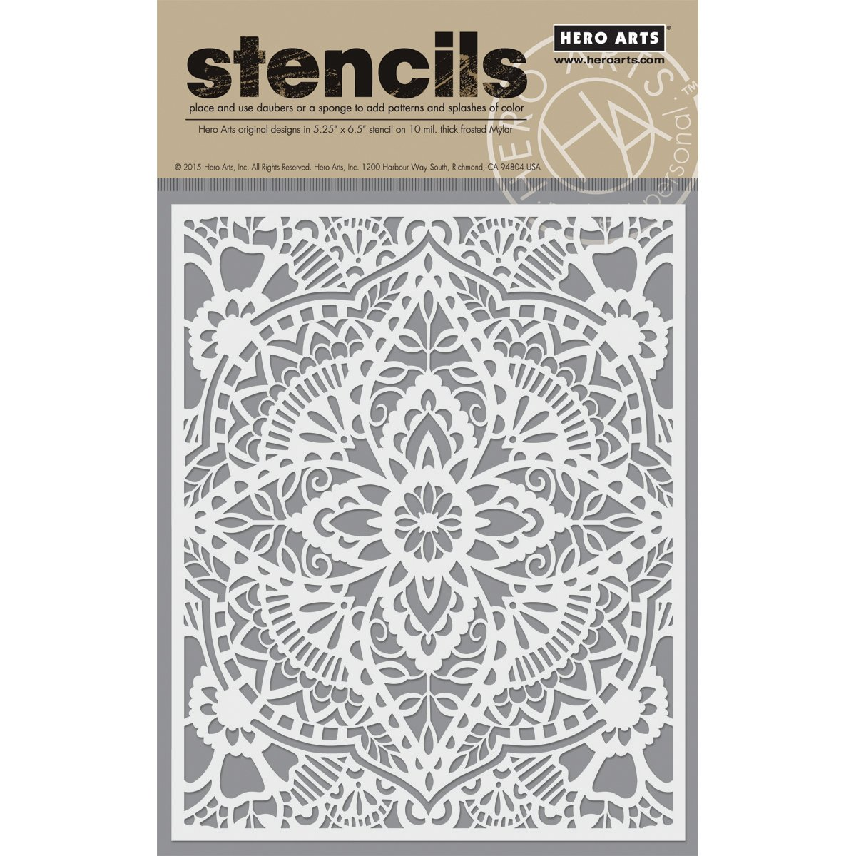 Hero Arts Plastic Stencils 6.25-inch x 5.25-inch-Glorious Petal SA064