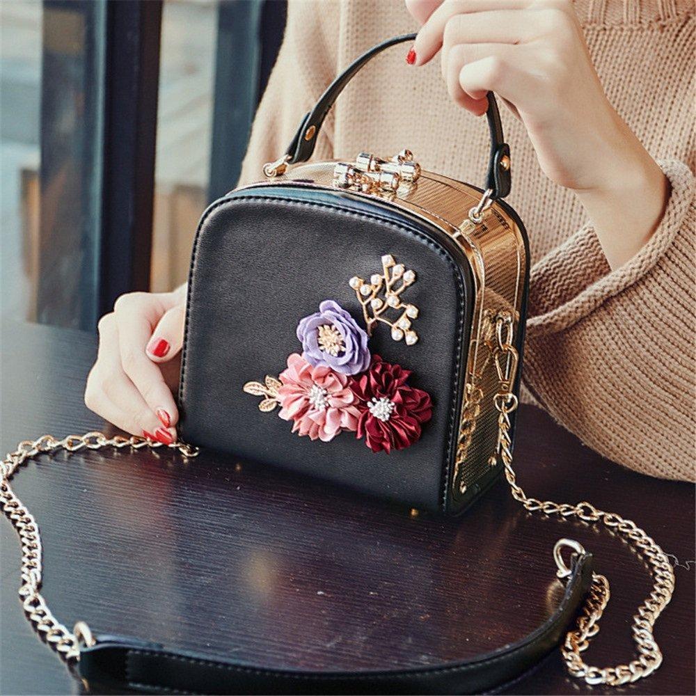 Amyannie Leisure Wild Flower Handle Shoulder Messenger Bag
