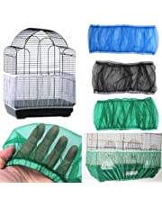 Kangql Filet en nylon ventilé pour cage à oiseaux Housse étanche à la poussière, récupère les graines
