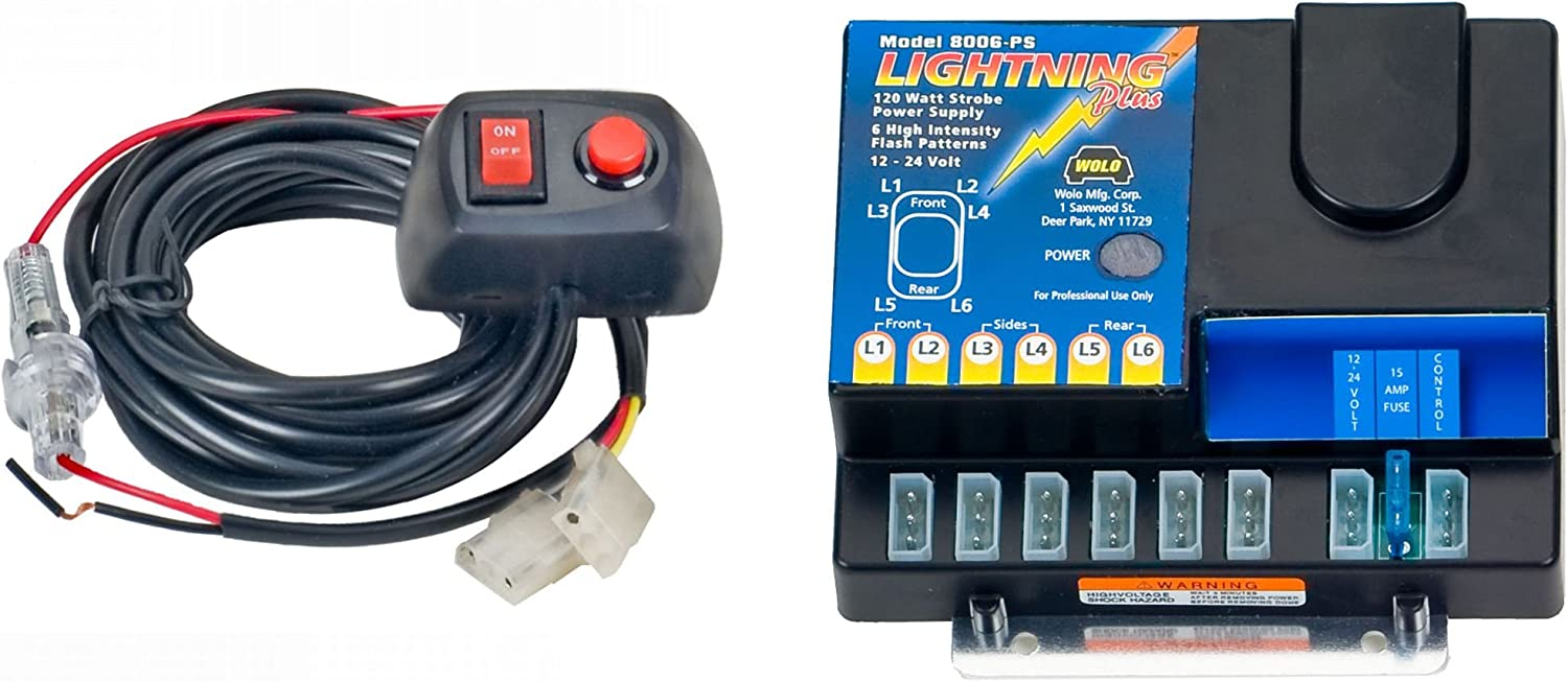 6 Flash Patterns Wolo Lightning Plus 6 Outlet Light Strobe Kit Clear 120 Watts