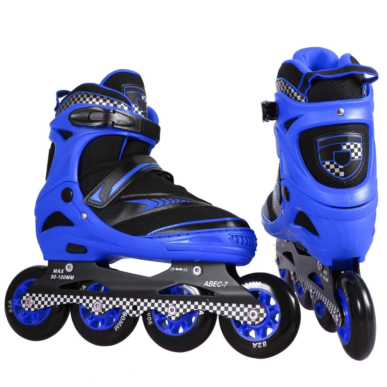 Leoneva Big Wheel Safe Inline Skate Roller Shoes, Outdoor Indoor Adult ABEC-7 Bearing Training Rollerblade Speed Rollerblades for Women/Men/Boys/Girls by Leoneva