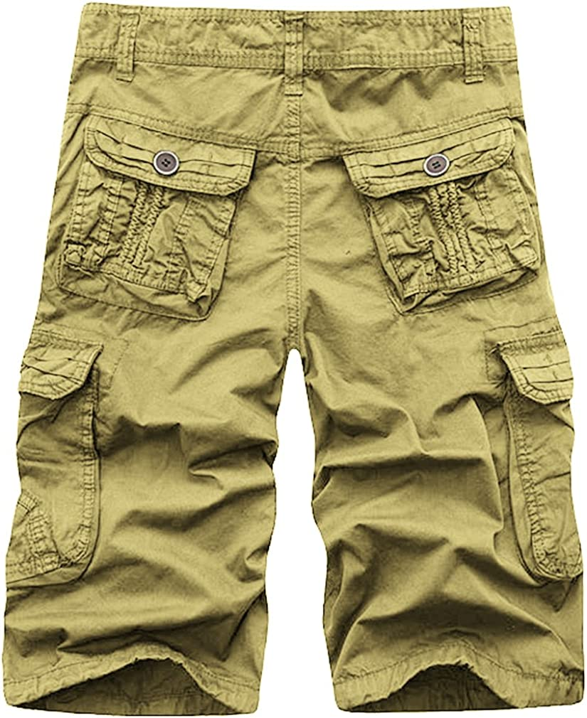 Nutovi Mens Cargo Shorts Relaxed Fit with Multi Pockets