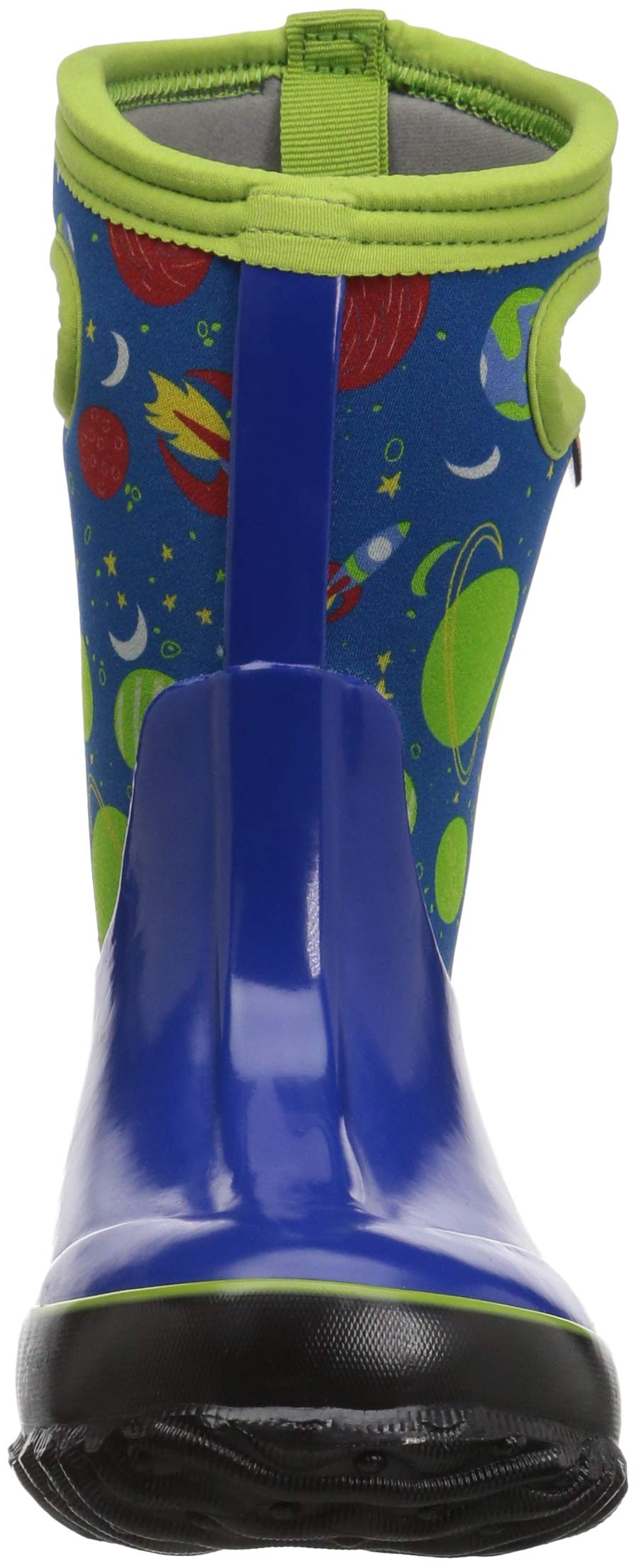 Bogs Classic High Waterproof Insulated Rubber Neoprene Rain Boot Snow, Space Blue/Multi, 11 M US Little Kid by Bogs (Image #4)