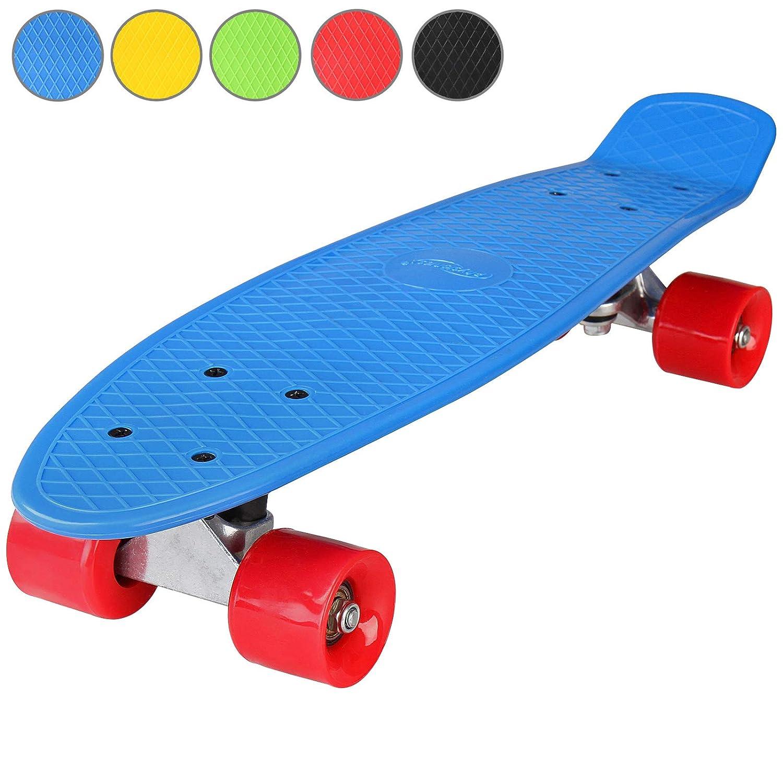 22 Komplettboard Skateboard Farbwahl Retro-Board Cruiser Board Mini Cruiser 57cm Kugellager: ABEC 5