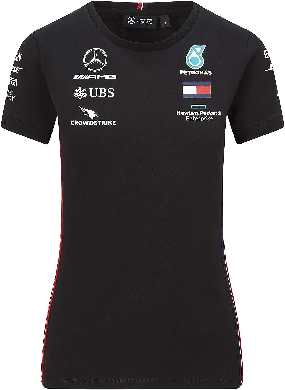 Mercedes Benz AMG Petronas F1 2020 Womens Team T-Shirt Black//White
