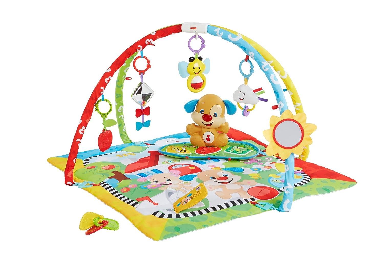 Fisher-Price Gimnasio aprendizaje de perrito manta de juego beb/é Mattel FBD48