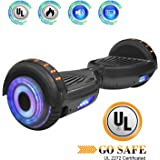 King Sports Dual 250W Motors Hoverboard with Build-in Bluetooth Speakers and LED Lights, UL2272 Certified