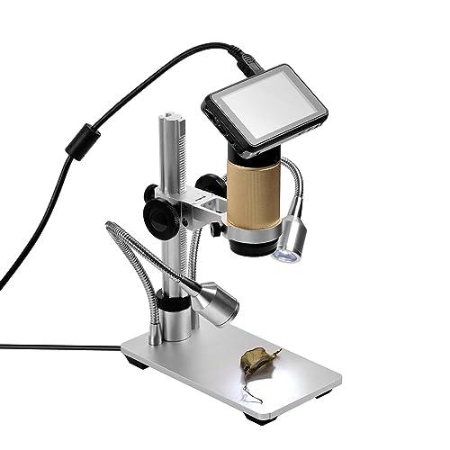 SHUOGOU HDMI Microscopios Resolución de 1920 x 1080P, zoom digital Microscopio Microscopio de Inspección, y de larga distancia HD de imagen digital para PCB Reparación