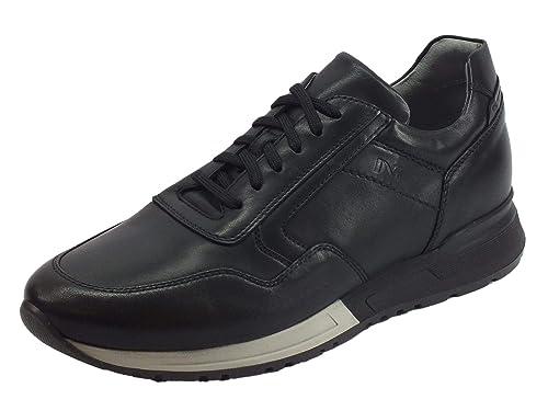 849f5a08f9 Nero Giardini Scarpe Uomo Sneaker in Pelle Stringate Nero A800561U ...