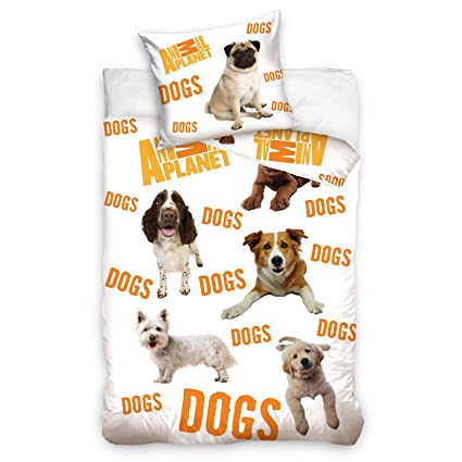 Animal Planet Perros de cama individual y funda de almohada Set