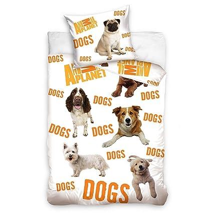 Animal Planet Perros de cama individual y funda de almohada Set