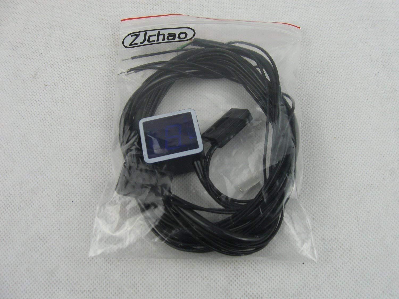 bleu ZJchao vitesse universel 8 lED num/érique pour moto avec affichage affichage manette de jeu de sondes