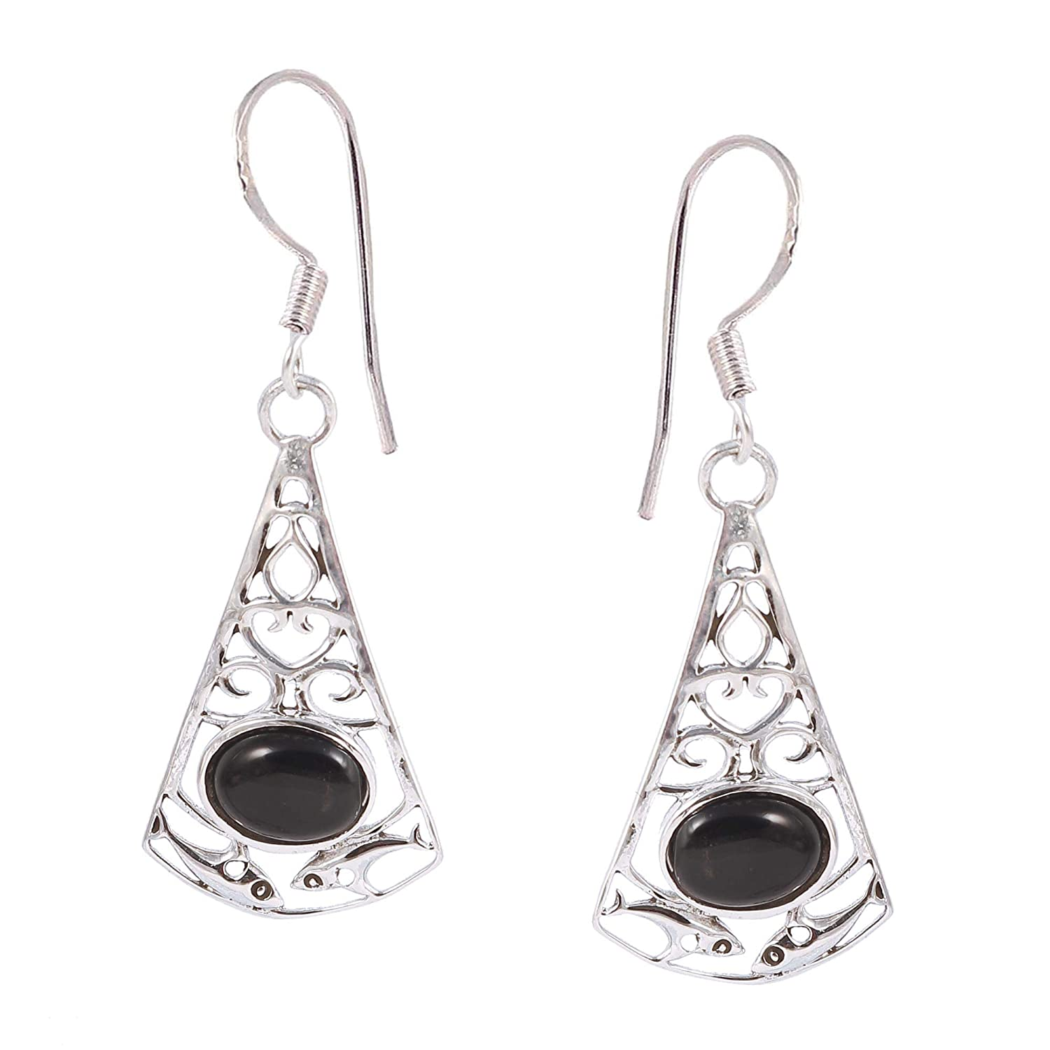 Engagement Jewelry NEW 925 Sterling Silver Natural Gemstone DANGLE Earrings