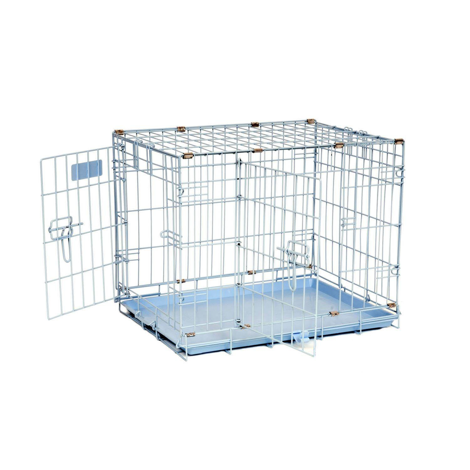 Precision Pet Snoozzy Baby 2-Door Crate, Blue by Petmate (Image #1)
