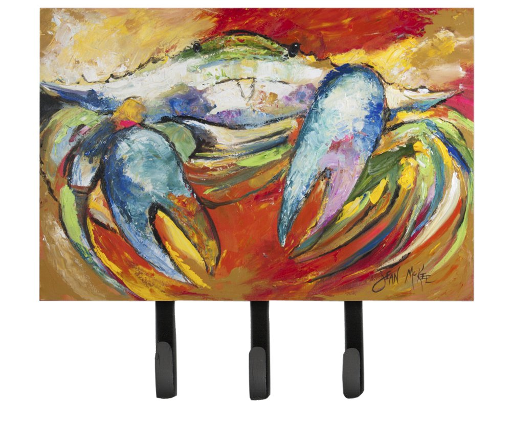 Caroline's Treasures JMK1109TH68 Blue Crab Leash or Key Holder, Large, Multicolor