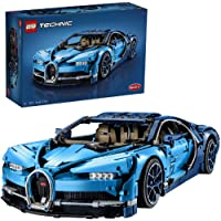LEGO Technic Bugatti Chiron 42083 Race Car Building Kit and Engineering Toy, Adult Collectible Sports Car with Scale Model Engine