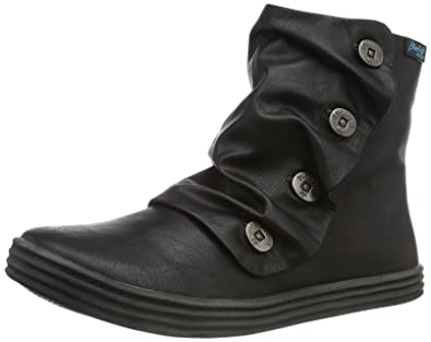 Discount Blowfish Malibu Rabbit Black Ankle Boots for Women On Sale